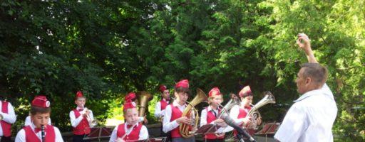Духовой оркестр играет в г. Истра