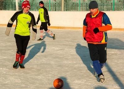 Футбол на снегу 7