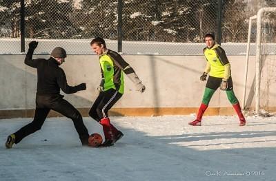 Футбол на снегу 20