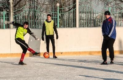 Футбол на снегу 22