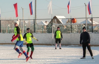 Футбол на снегу 24