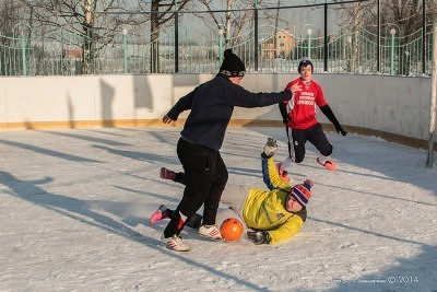 Футбол на снегу 35