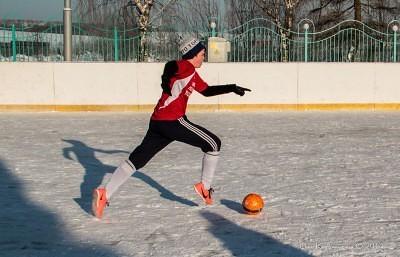Футбол на снегу 38