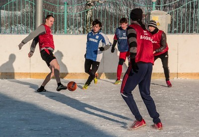 Футбол на снегу 39