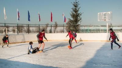 Футбол на снегу 41