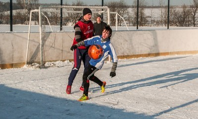 Футбол на снегу 43