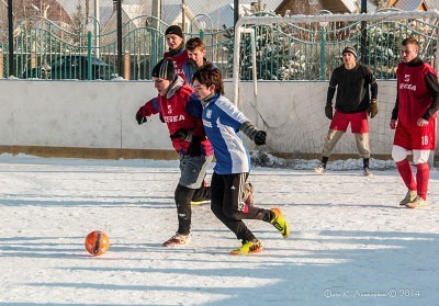 Футбол на снегу 48