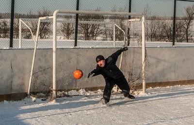 Футбол на снегу 56