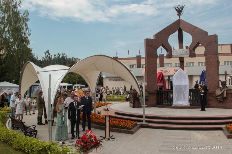 Церемония открытия стелы памяти, посвященной памяти российских воинов, погибших в Первой мировой войне. Фоторепортаж 8