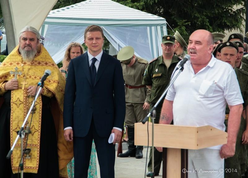 Церемония открытия стелы памяти, посвященной памяти российских воинов, погибших в Первой мировой войне. Фоторепортаж 9