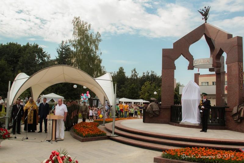 Церемония открытия стелы памяти, посвященной памяти российских воинов, погибших в Первой мировой войне. Фоторепортаж 10