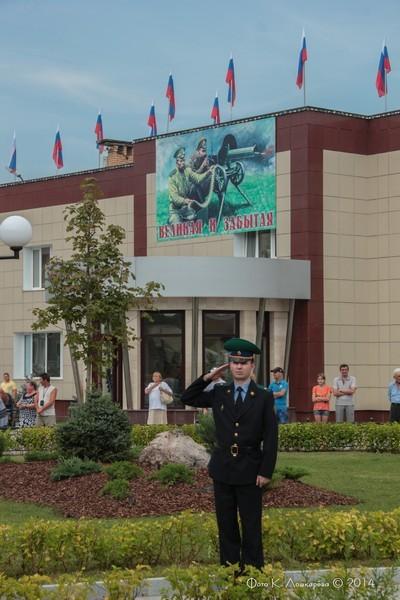 Церемония открытия стелы памяти, посвященной памяти российских воинов, погибших в Первой мировой войне. Фоторепортаж 11