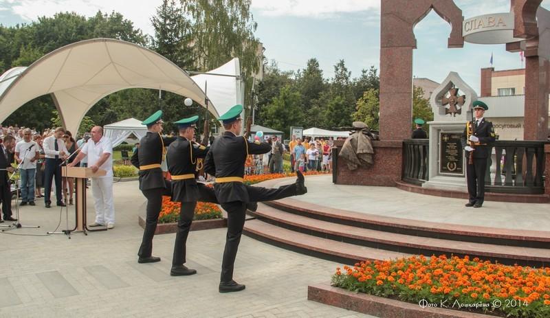 Церемония открытия стелы памяти, посвященной памяти российских воинов, погибших в Первой мировой войне. Фоторепортаж 27