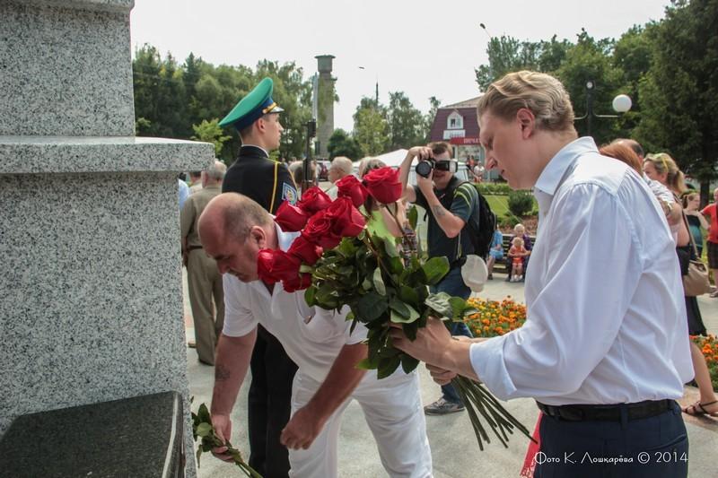 Церемония открытия стелы памяти, посвященной памяти российских воинов, погибших в Первой мировой войне. Фоторепортаж 43