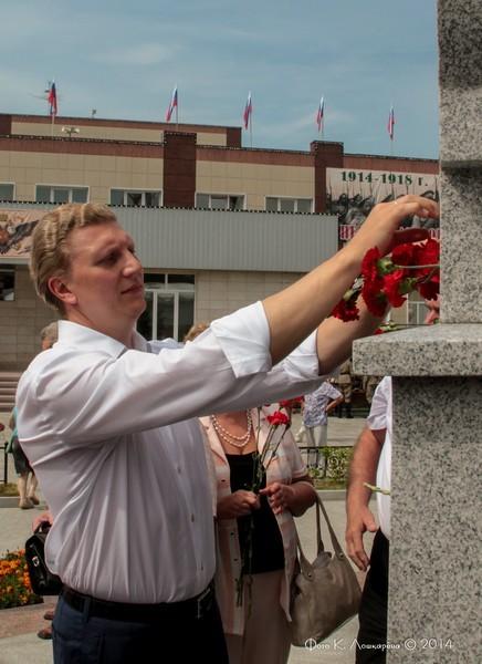 Церемония открытия стелы памяти, посвященной памяти российских воинов, погибших в Первой мировой войне. Фоторепортаж 45