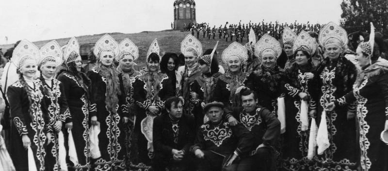 После концерта на Бородинском поле конец 80-х годов