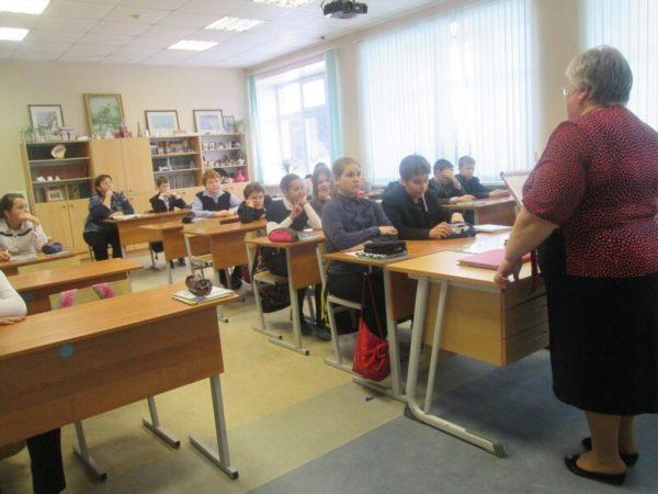 Открытый урок в Саввинской школе 3