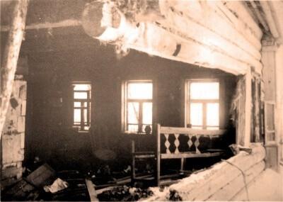 Дом Воробьёвых в селе Ершово. Декабрь 1941 г