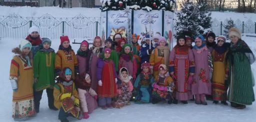 Рождественские забавы в селе Каринское